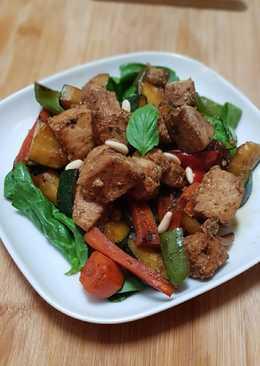 Atún y verduras al Wok