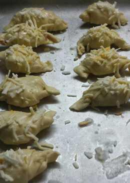 Croissant de hojaldre jamón y queso