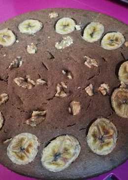 Bizcocho de avena plátano y nueces