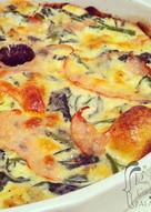 Tarta de espinaca y jamón de pavo