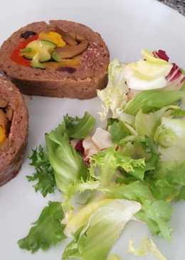 Rollo relleno de verduras expres