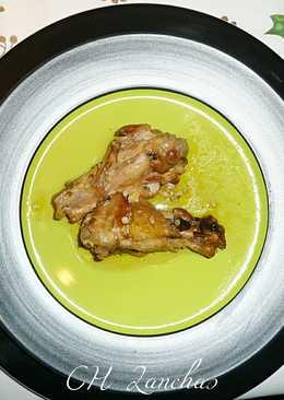 Pollo de corral con almendras