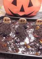 Pastel de chocolate halloween