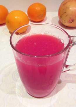 Zumo de granaday naranja para prevenir el colesterol