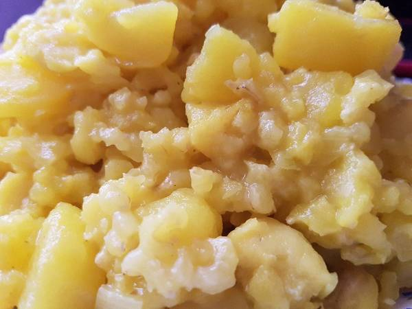Arroz integral con Merluza y patatas!!🍚🐟🥔