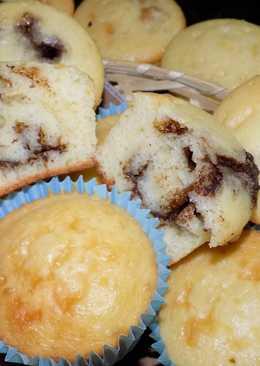 Muffins y/o magdalenas fáciles con corazón de.