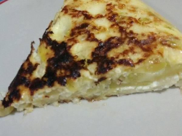 Tortilla de calabacín con thermomix