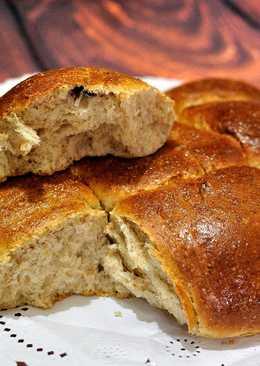 Pan brioche semi-integral con arándanos