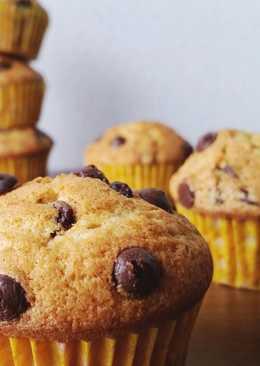 Muffins americanos con chips de chocolate