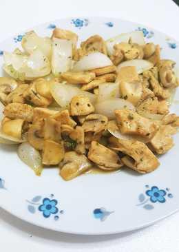 Pollo con verduras. Sano, rápido y sencillo
