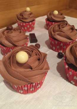 Cupcakes con galletas de chocolate