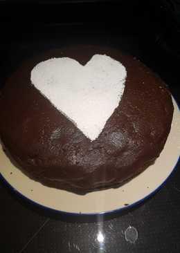 Tarta de chocolate dedicada a mis compañeros