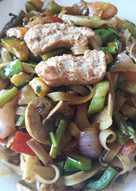 Tallarines de arroz chinos a mi estilo (vegetariano)