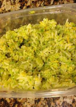 Arroz con brócoli & queso cheddar