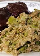 Carrilleras de Cerdo al vino tinto con Salteado de Quinoa y Brócoli