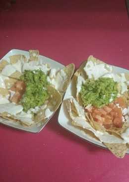 Nachos tres salsas a mi manera