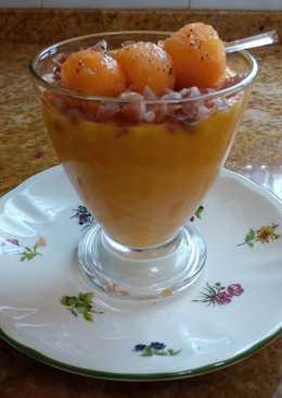 Sopa fría de melón con jamón