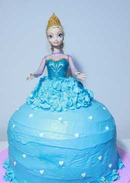 Pastel de princesa Elsa - Frozen