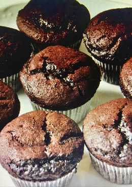 Magdalenas de chocolate sin azúcar para diabéticos