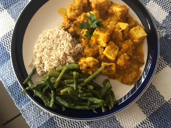 Tofu al curry