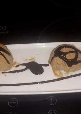 Helado de Ferrero Rocher con avellana