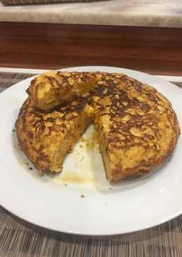 Tortilla de calabaza al toque de queso curado