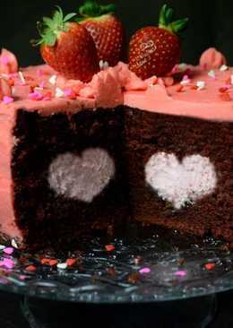Tarta red velvet con corazón
