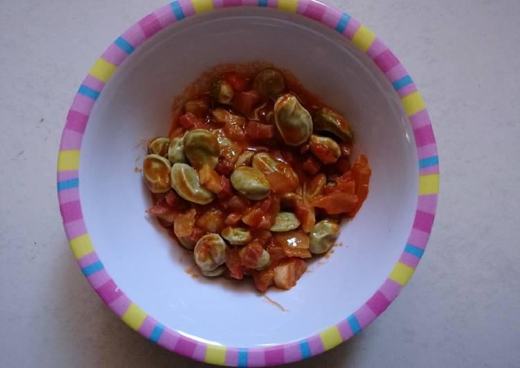 Habas frescas con jam n blw 12m receta de ana cocinela - Habas frescas con jamon ...