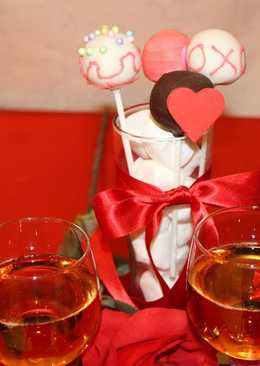 Cakepop con chocolate para el amor
