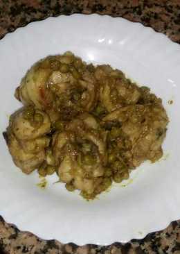 Pollo con guisantitos