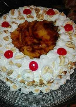 Tarta de crema de vainilla quemada y merenge