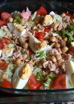 Ensalada de garbanzos y lechuga 35 recetas caseras cookpad - Ensalada de garbanzos light ...