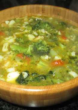 Sopa de bacalao desmigadocon brócoli