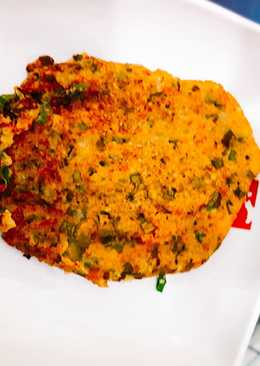 Tortilla de quinua con cebolla verde