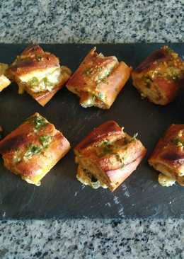 Baguette rellena de pollo y queso