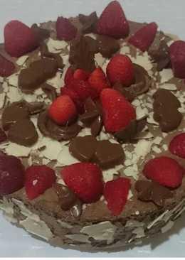 Torta helada de mousse chocolate y dulce de leche granizado