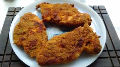 Pechugas de pollo empanizadas al horno