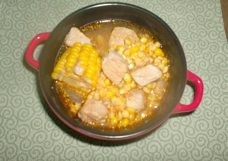 Guiso De Maíz Con Carne De Cerdo Receta De Conchita Cookpad