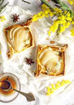 Tartaletas de Pera y queso azul