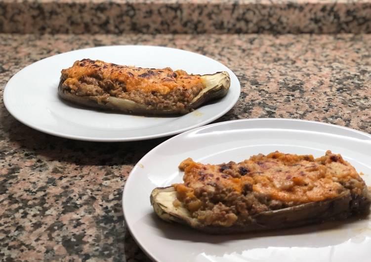 Berenjenas rellenas de carne con tomate casero súper fácil