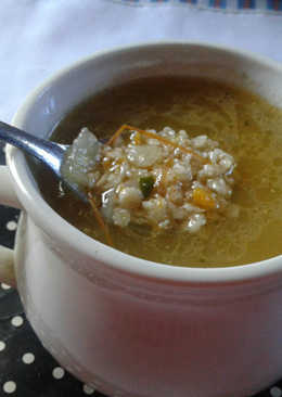 Sopa de verdura y avena