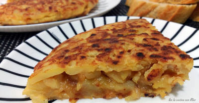 Tortilla de patatas (con cebolla)