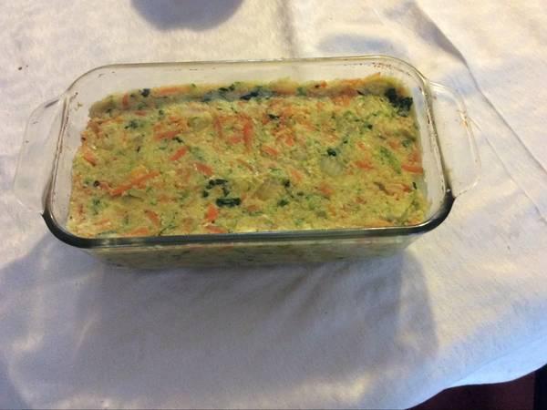 Budín de verduras y cus-cus