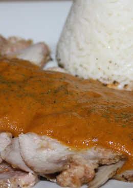Lomo mechado en salsa