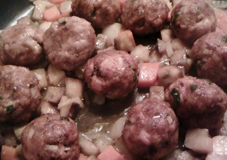 Albóndigas ultraligeras de pollo con verduras