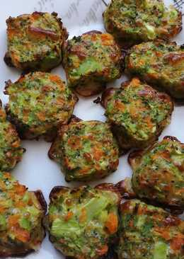 Mini hamburguesas de brócoli y zanahoria