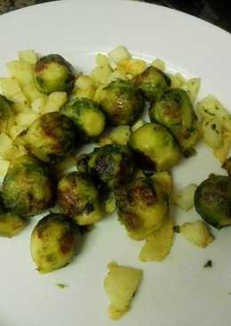 Coles de bruselas con patatas
