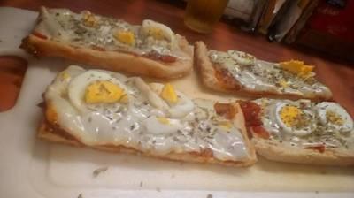 Pizza de la tía -sin levadura