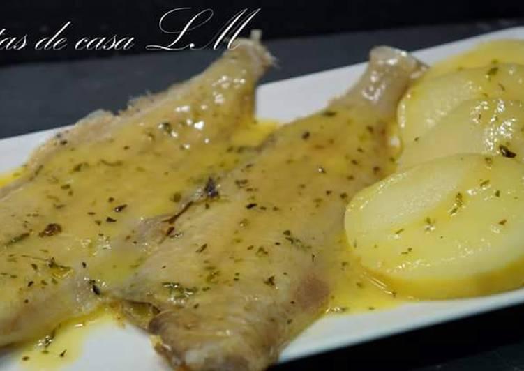 Pescado con salsa menier