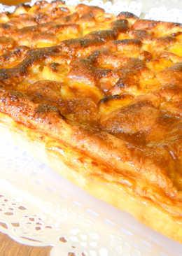 Tarta de plátano y crema de almendra